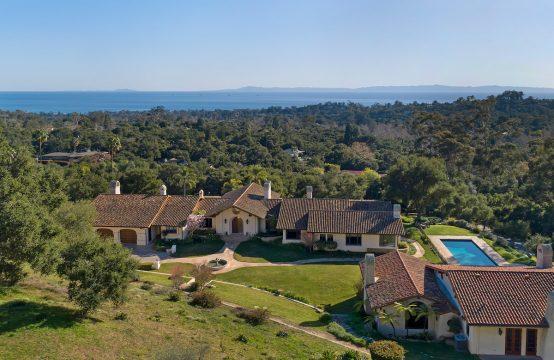 Grandiose Montecito Ocean View Estate – For Rent